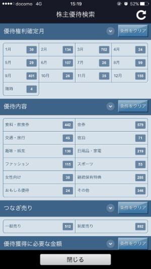SBI証券アプリ-株主優待検索機能解説